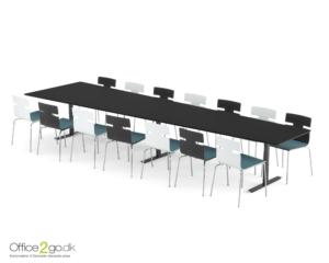 Inline Media mødebord - 14 personer - 440 cm.