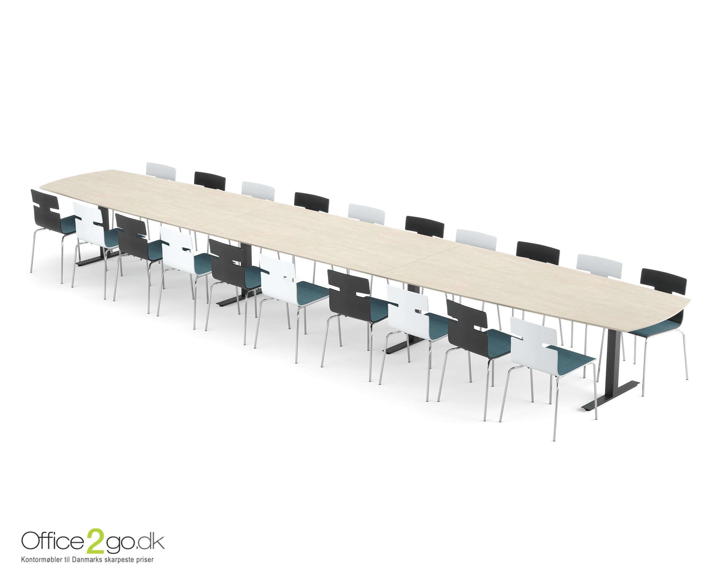 Square mødebord - 20-22 personer - 640 cm.