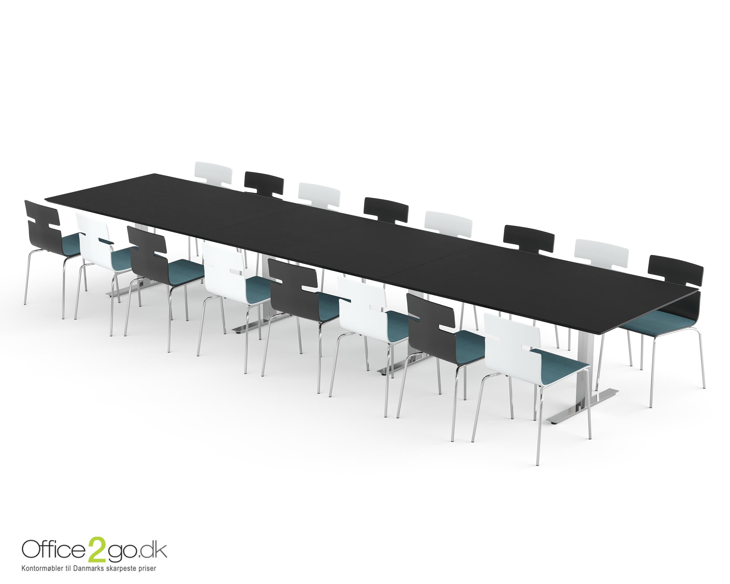 Square mødebord - 16-18 personer - 480 cm.